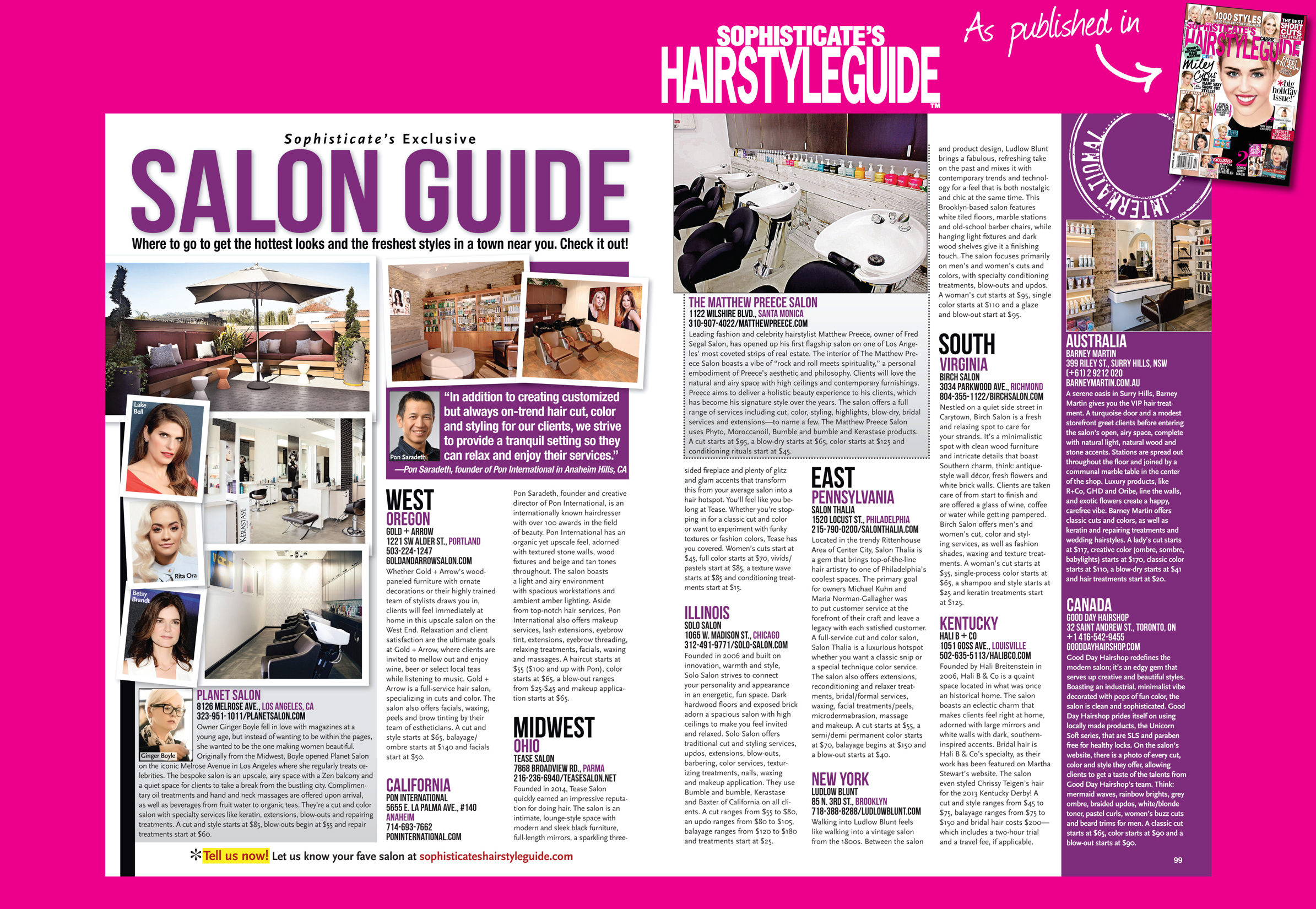 Sophisticates Salon Guide